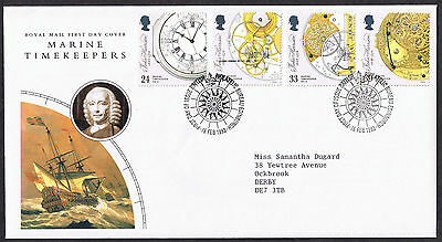 Marine Timekeepers 1993 First Day Cover - SG1654 to SG1657 Edinburgh Cancel