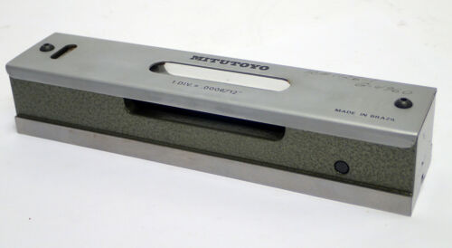 """MITUTOYO 960-612 PRECISION MACHINISTS LEVEL 0006""""/12"""" ACCURACY .0003"""" TESTED"""