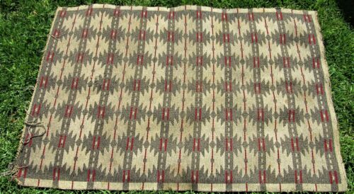 """GORGEOUS ANTIQUE NATIVE AMERICAN INDIAN HANDWOVEN WOOL RUG / BLANKET 49"""" X 75"""""""