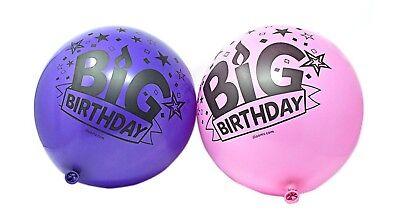 NEU VPE 20 Illoom Supergröße groß Geburtstag 61cm Luftballons rosa und lila groß