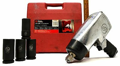 Chicago Pneumatic 34 Impact Wrench Kit Cp772hk W 4 Sae Sockets 1000 Ft-lbs