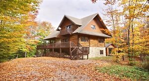 Chalet a louer cottage cabin for rent spa hot tub