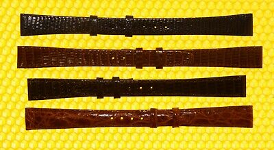 [Lot of 4] Vintage GUCCI 13mm Leather Watch Strap Bands SWISS MADE