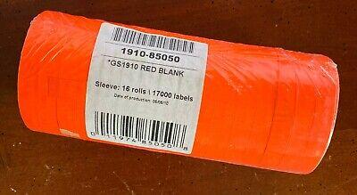 Garvey Monarch Pricing Gun 1-line 16 Rolls 17000 Fluorescent Red Labels New