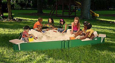 Sandbox 10X10 SandLock Backyard Sandbox with cover for Children / Kids
