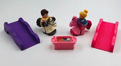 Fisher Price Little People Klip Klop Cinderella & Prince Charming Complete RARE