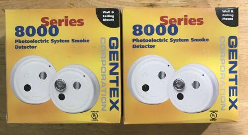 🌟 NEW Lot of 2 Gentex 8240PTY 24VDC 4-Wire Photoelectric Smoke Detector Piezo