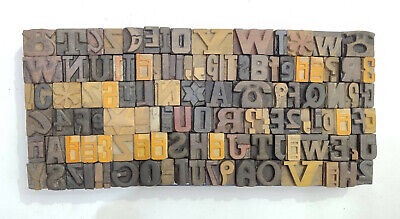 Vintage Letterpress Woodwooden Printing Type Block Typography 114 Pc16mm Lb127