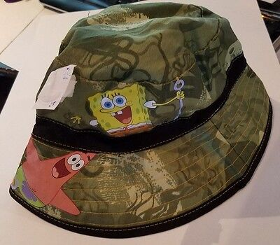 Toddler Boys Nickelodeon Spongebob Squarepants Brand Green Bucket Hat NWOT - Spongebob Buckets