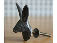 ornate HARE design metal handles