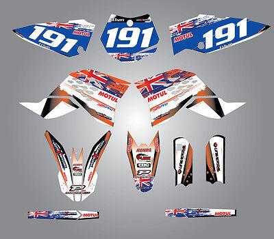 Full  Custom Graphic  Kit -AUSSIE PRIDE - KTM 65 SX 2009 / 2015