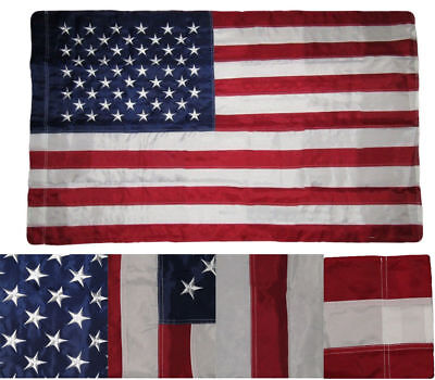 2.5 x 4 Embroidered USA American Pole Sleeve Nylon Flag 2.5'x4'