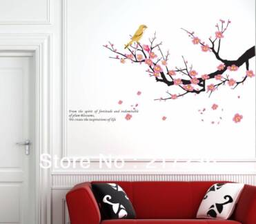 Birds and Cherry Blossom Wall Decal/Wall Stickers