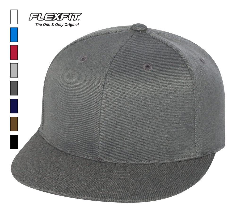 bce09842c712d Details about Flexfit - Flat Bill Cap blank hat baseball lid