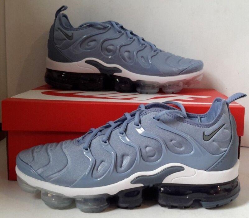 c327b9e90f5 Nike Air Vapormax Plus Work Blue Cool Grey Diffused White Running Men  924453-402