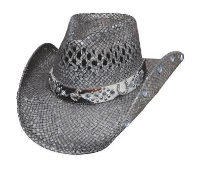 NEW Bullhide Hats 2833 Horse Country Collection Facing Fears Gray Cowboy Hat - Country Cowboy Hats