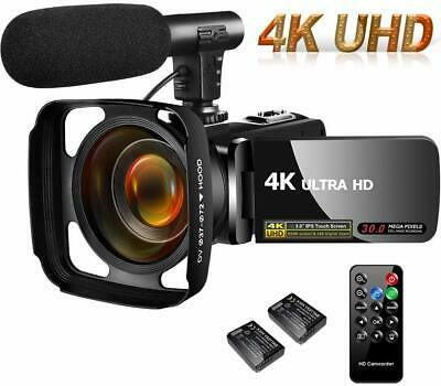 4K Camcorder Video Camera,Vlogging Camera for YouTube 30MP Camcorder 3.0 Inch...