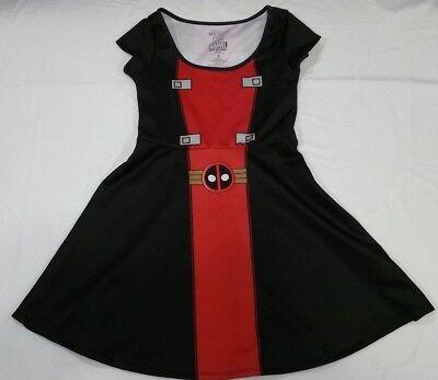 Skater Dress Marvel Cosplay Costume Dress size S M L XL (Deadpool Kleid)