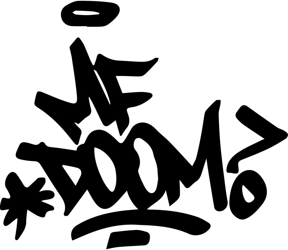 Home Decoration - MF DOOM signature vinyl decal sticker madvillan rapper King Geedorah dimes