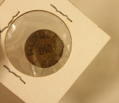 Vintage Tin Tobacco Tag Butler's Big Fig