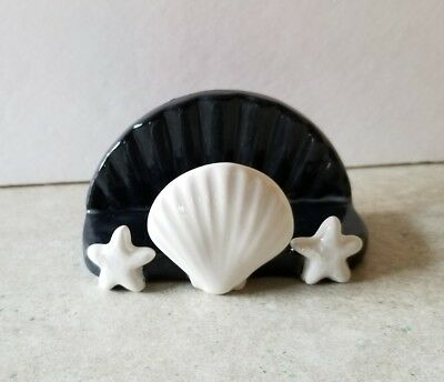 Sea Shell Sponge Holder or Business Card Holder Unpainted Ceramic Bisque