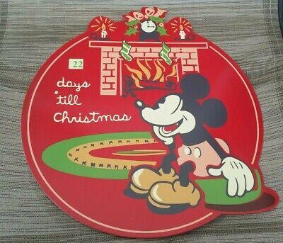 Disney Mickey Mouse Countdown to Christmas Metal Advent Calendar NEW