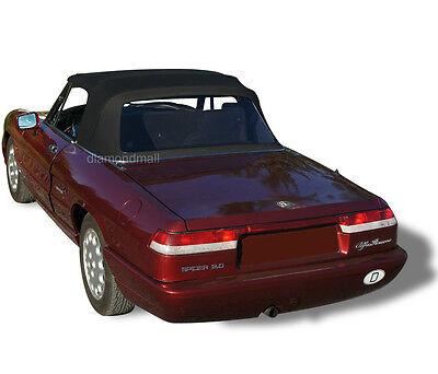 Alfa Romeo Spider Graduate Veloce Convertible Soft Top BLACK German Canvas
