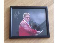 Hand Signed Framed Photo Of Elton John