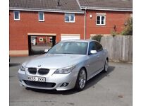 BMW 5 SERIES 535D M SPORT SILVER! BLACK LEATHER, HEATED SEATS SPIDER ALLOYS! HIGH SPEC! STUNNING!