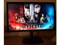"""LG 22"""" IPS LED Full HD Monitor(HDMI,DVI,VGA) 1080p , New Gaming Monitor"""