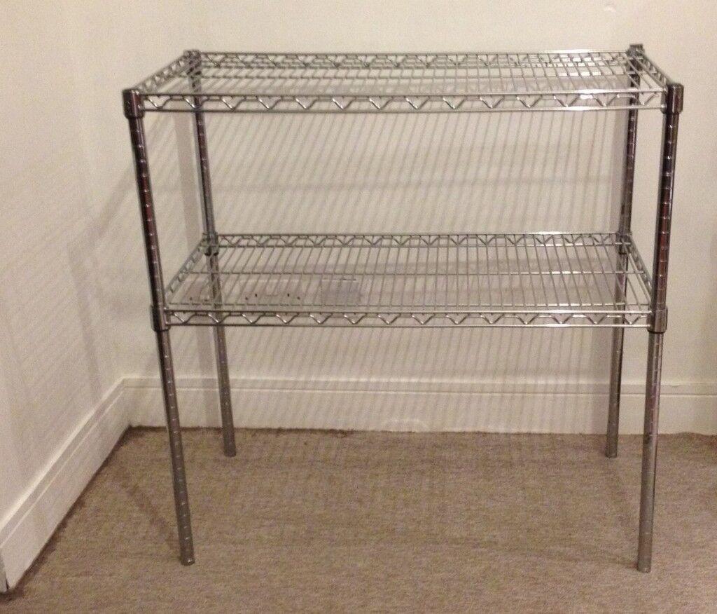 Multi purpose stainless steel shelves