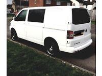 Stunning white VW Transporter 2014 camper van, new conversion. No trade calls pls.
