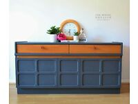 Nathan Sideboard / Buffet 1970's Retro Furniture - Vintage - Entertainment Centre