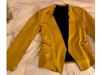 Mustard Yellow ZARA Blazer, size L