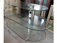 Sandstrøm Floating Glass Shelves TV Stand SFCG5014