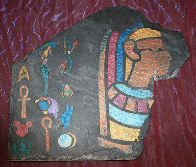 Egyptian Hieroglyph-esque ~ Post-Modern Folk Art Humor ~ Sulu Ho-Tep ~ Original
