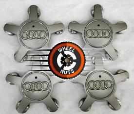 Set of 4 genuine Audi centre caps