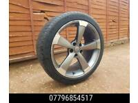 19 inch Concaved Audi Rotar Type Alloy Wheels & Tyres - a4 a6 alloys a8 vw golf -