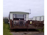 8 berth 3 bed caravan,ingoldmells,DOG FRIENDLY,AUGUST BOOKED,24-1st oct,£190,.now booking 2017