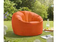 X-L Beanbag Chair Orange Water resistant