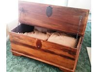 antique rustic blanket box/coffee table