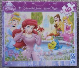 "Disney Princess ""Fun in the Garden"" Jigsaw Puzzle – 3 to 7 years & upwards - £3"