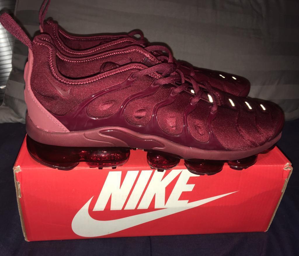 9d47c239533 Nike Air Vapormax TN Plus Tuned Trainers Crimson Red Men s UK 10 BNIB