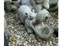 Garden hippo stone 2 left