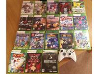 Xbox 360 slim 4GB black + 18 Games
