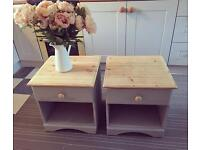 Painted bedside tables