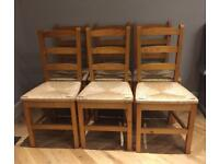 6 lovey solid wood chairs