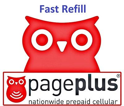Pageplus  80 Refill    2000 Minutes  1 Year  Fast   Right