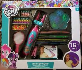 My Little Pony Hair Braided Set- brand new
