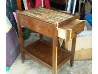 Old wooden tea trolley